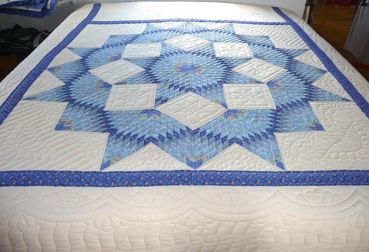 Broken Star Blue Amish Spirit Handmade Quilts For Sale