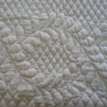 Hand quilting Heirloom Quilt