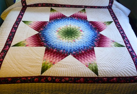 Amish Handmade Quilt Radiant Star Pattern