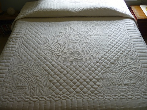 Queen Anne Star Wholecloth Quilt Full View