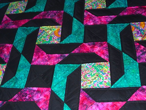 Arachnes Quilt Detail of Top