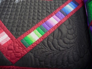 amish-quilts-for-sale-Hand Quilting Close Up 2