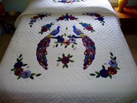 Amish applique quilt
