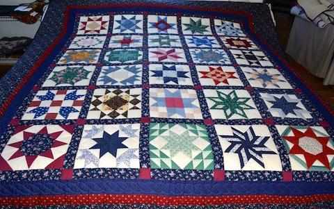 Handmade Amish Quilt 30 Stars Pattern