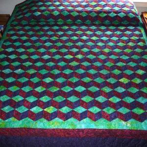 Amisth Tumbling Blocks quilt