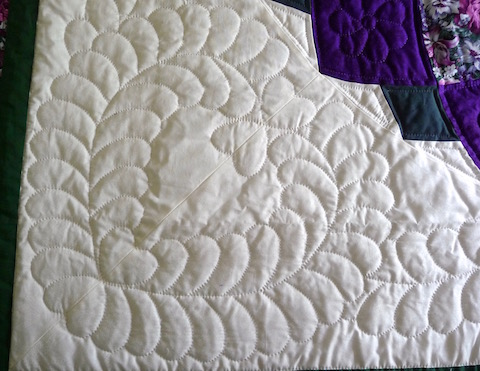 Folk art of the amish Giant Dahlia quilt pattern detail