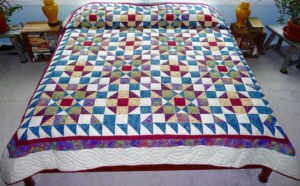 Winters Night Amish Quilt for sale
