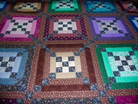 Handmade Amish Quilt for Sale Log Cabin Amish Quilt