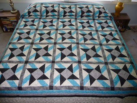 New amish king quilt Jack in the Box