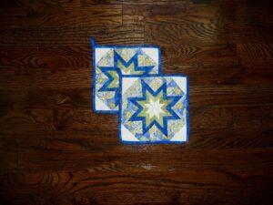 Folded Star Amish Pot Holders