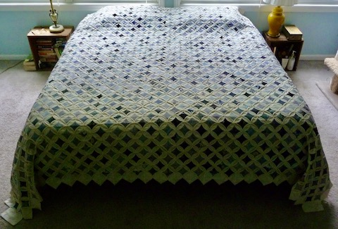 Cathedral Windows Amish Quilt for Sale