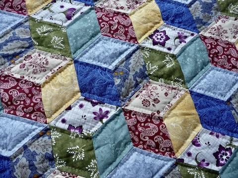 amish quilt for sale Tumbling Blocks