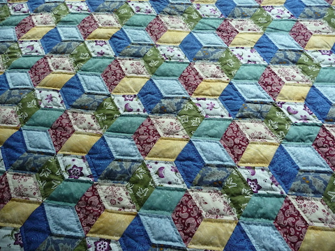 Tumbling Blocks amish quilt for sale