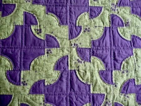 Amish Quilt for Sale Drunkards Path
