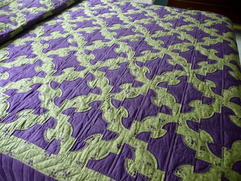 Drunkards Path Amish Quilt For Sale