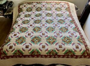 Handmade Amish Quilt for sale Pineapple Log Cabin