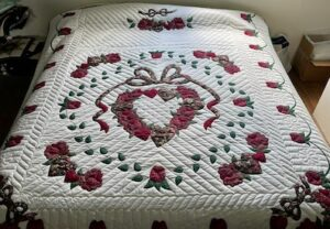 Handmade Amish Quilt for Sale Country Roses